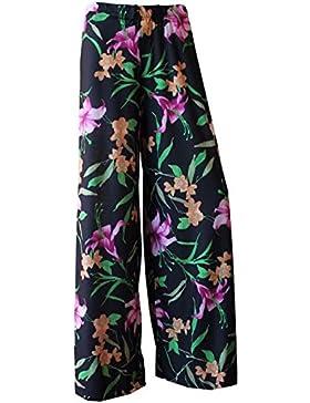 Pantalones de mujer Palazzo, holgados y estampados en tallas S, M, L, XXL y XXXL