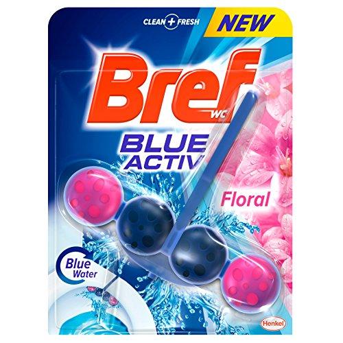Bref WC Poder Activo Blue Activ Floral 50 gr, Pack de 5 - Total: 250 gr