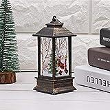 Christmas Garden lanterne–simulazione fiamma luci tavolo fiamma lampada fiamma luce per esterni campeggio lampada a olio di simulazione di Halloween di Natale luce decorativa Old Man