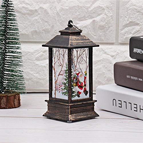 Farolillos de jardín de Navidad – Lámpara de mesa de llamas de simulación para camping al aire libre lámpara de aceite simulación Halloween Navidad luz decorativa