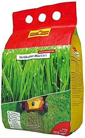 WOLF-Garten Nachsaat und Düngung Vertikutier-Mix 4-in-1, rot