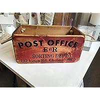 Ufficio Postale Lettera Sorting Baule in legno, cassetta vintage petto