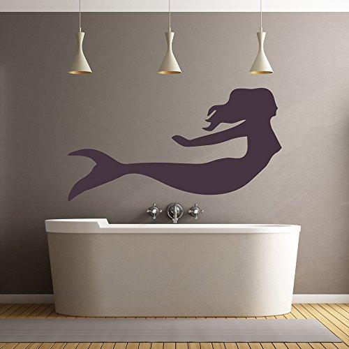 Nuoto Mermaid Wall Stickers Adesivo Fantasy Art disponibile in 5 dimensioni e 25 colori Medio Blu Oceano - Mermaid Fantasy Art