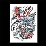 zgmtj Autoadesivi del Tatuaggio del Tatuaggio del Braccio del Fiore autoadesivi Personalizzati del Tatuaggio di Halloween HB-677 148 * 210MM