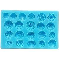 """Stampo per dolci  design """"boccioli"""" in silicone per alimenti, antiaderente, utilizzabile con pasta di (Food Grade Cera)"""