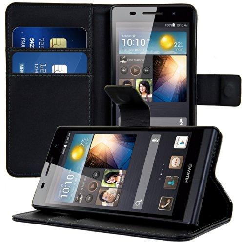 kwmobile Huawei Ascend P6 Hülle - Kunstleder Wallet Case für Huawei Ascend P6 mit Kartenfächern und Stand