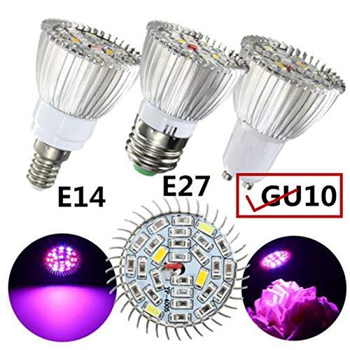 BeesClover 10 W LED Vollspektrum Pflanzenlampe für Innen Garten Gewächshaus Zubehör GU10-Sockel