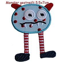 Monster Rayas 5x7cm Parche thermoadhesivo TrickyBoo El Regalo Del Bebé Diy Diseño Decorativo Decoración para reparar banderín almohada camisa placa vaqueros ...
