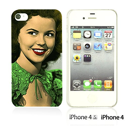 OBiDi - Celebrity Star Hard Back Case / Housse pour Apple iPhone 4S / Apple iPhone 4 - Beautiful Queen Elizabeth II Shirley Temple