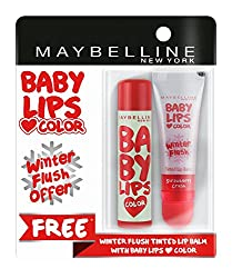 Maybelline New York Baby Lips, Winter Flush, 4.4g and Baby Lips, Candy Rush Watermelon Pop, 4g