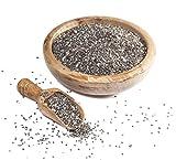 ✅ Sortenreine Bio Chia Samen / Chiasamen schwarz (Salvia Hispanica) 1kg zum Essen aus dem Öko-Anbau (organic) von einer bio-zertifizierten Mühle aus Südamerika (keine billige CHINA-WARE) in Premium (Handelsklasse I) und Rohkost Qualität, bio, roh, FAIR TRADE, glutenfrei, naturbelassen, unbehandelt, vegan, ohne Pestizide, ideal als Topping für Müsli, Joghurt, Quark, Pudding, Porridge, Smoothie, zum Backen, Abnehmen, während einer Low Carb Diät oder Fitness, gesunde Alternative zu Leinsamen