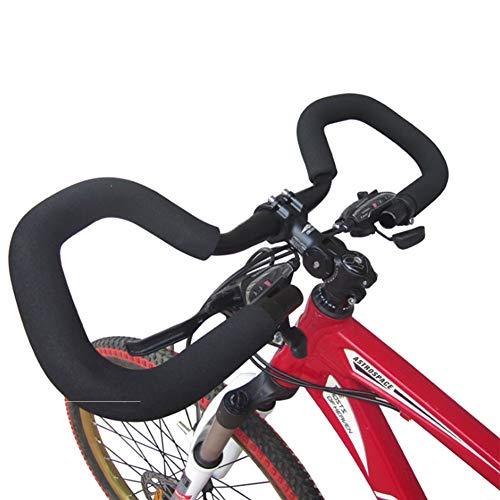 NANANA Butterfly Lenker aus Aluminiumlegierung, Dreidimensionale Stange mit/Ohne Schwammabdeckung für Trekking, Radfahren, Rennradfahren(25.4X580 Mm),Withspongecover