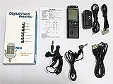 Ruiboury Mini USB Profesional Pantalla Grande dictáfono Digital grabadora de Voz Reloj con Reproductor de MP3 WAV