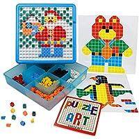 YIXIN Mosaico Puzzle Intelletto Giocattolo Pegboard Jigsaw Puzzle Block Gioco di Costruzione Giocattoli Educativi per Bambino oltre 3 Anni (490pcs)
