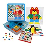 Mosaic Puzzle Intellect Toy Pegboard Jigsaw Puzzle Block Building Game for Kids Kindergarten Educational Toys for Kid over 3 Years Old (480 Pcs)