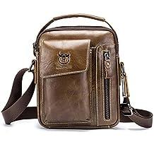 Pacco Petto Vera Pelle Uomo Borse in Pelle Uomo Top-handle Custodia  Marsupio Bag Small 116eba4eb17