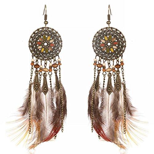 MEEOI Modeübertreibung Ohrstecker Ohrringe Ohrreifen 925 Sterling Silber, lange Quasten schönes Kostüm Ohrringe