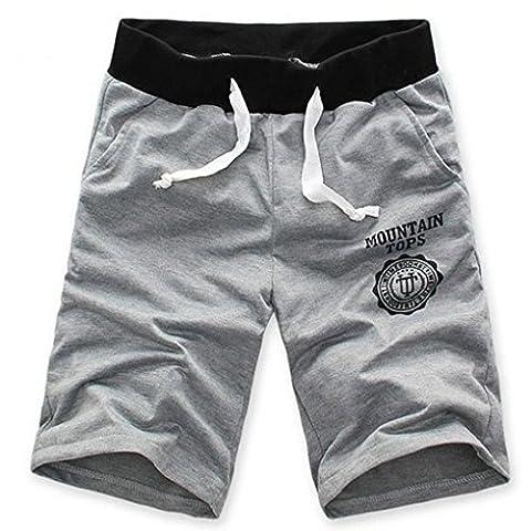 Minetom Homme Casual Cool Short Pantalon de gymnase du sport Jogging Pantalon ( Gris EU M )