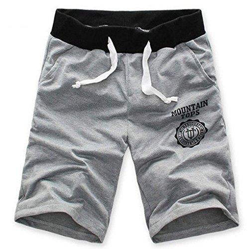 Minetom Pantaloni da Jogging da Uomo sportivi Casual Palestra Sport Hip-Hop Sarouel danza Pantaloni in esecuzione ( Grigio EU L )