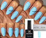 Blue Sky Pastel Neon 03 Pastel Neon 3 Light Baby Blue Vernis à ongles gel UV LED Soak Off 10 ml Plus 2 LuvliNail Shine Wipes