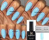 Blue Sky Pastel Neon 03Pastel Neon 3Light Baby Blue Vernis à ongles gel UV LED Soak Off 10ml Plus 2LuvliNail Shine Wipes