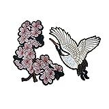 Cupcinu Kranich Bestickte Stoffmäntel Dekorative Accessoires Flower Patches Hosen Modifizierte Labels Bestickte Kapitel