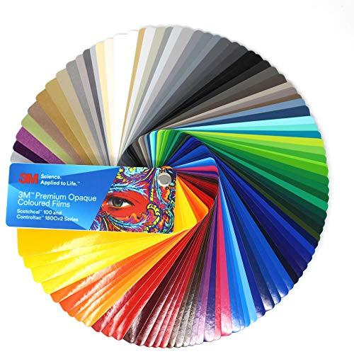 Farbfächer 3M Wrap Film 1080/1380 Di-Noc 8900 580E Scotchcal 80 100/983/180 Folie Autofolie Werbung (Farbfächer 3M Scotchcal 100 / Controltac 180)
