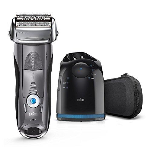 Braun Series 7 7865 cc - Afeitadora eléctrica de lámina para hombre, en húmedo y seco, con estación de limpieza clean&charge