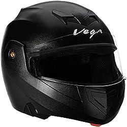 Vega Crux CRX-B-L Flip-up Helmet (Black, L)