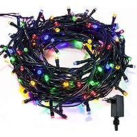 takestop 200 LED LUCI RGB Colorata 091/371 Filo Verde Albero di Natale Catena Luminosa Controller 8 FUNZIONI MINILUCCIOLE LAMPADINE LUCCIOLE da Esterno IP44 Impermeabile
