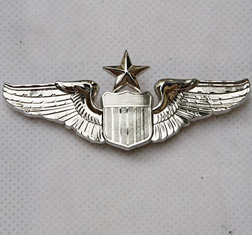 generic-usaf-us-air-force-senior-pilot-metal-wing-badge-insignia-color-silver