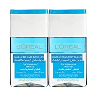 L'Oreal Paris Make-Up Remover for Eyes & Lips for Water Proof Make-Up, 2 x 125 ml