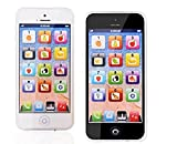 Regalo Natale,Giocattolo per Bambini,Giochi Smartphone,Kids Learning Toy Play Cell Phone Nero con USB Colore Casuale ricondizionabile
