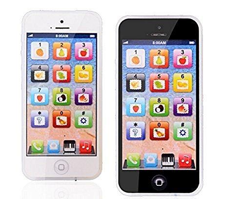 elegantstunning Yphone Téléphone portable rechargeable USB pour enfants Noir
