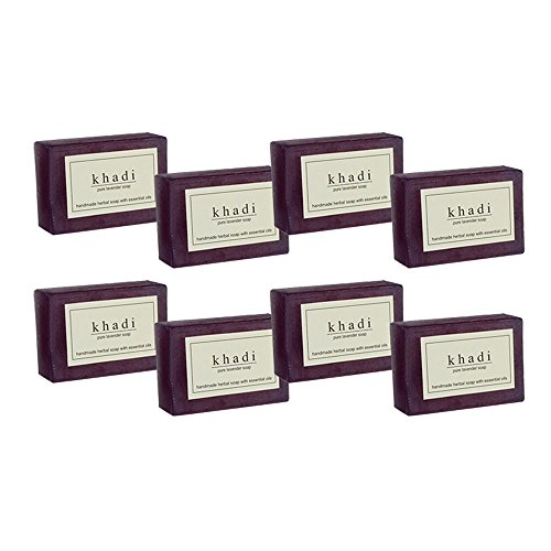 Khadi Herbal Pure Lavender Soap - 125g (Set of 8)  available at amazon for Rs.530