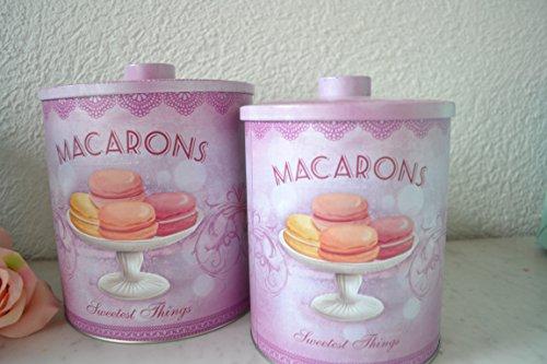 Vorratsdosen violett weiss mit Deckel- 2 Stück, groß + klein- dekorativ und praktisch als Keksdose...