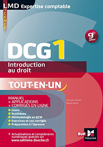 DCG 1 - Introduction au droit - Manuel et applications - 9e édition