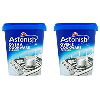 2 x Astonish Oven & Cookware Cleaner Cleaning Grease Remover 500 Grams