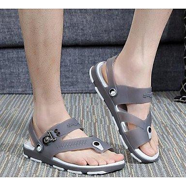 Slippers & amp da uomo;Casual Primavera Comfort Light suole di gomma, Sandals Royal Blu sandali Dark Grey