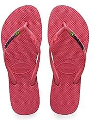 4801cabb738e Havaianas Women s Slim Brasil Logo Flip Flops