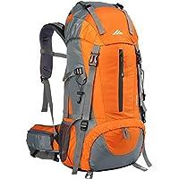 Lukasai 50L Trekkingrucksack Wasserdicht Wanderrucksack Reiserucksack Sportrucksack Fassungsvermögen aus Nylon-Gewebe mit Regenschutzhülle für Reisen Wandern und Bergsteigen