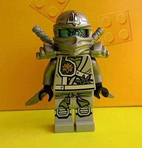 LEGO Ninjago Minifigur TITANIUM ZANE Silberner Ninja 70748 Titandrache (Ninjago Lego-sets Ninja Golden)