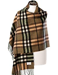 Edinburgh 100% Lambswool Scottish Tartan Multicolor Stole Thomson Sherwood (One Size)