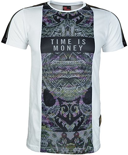 TIME IS MONEY Herren T-Shirt schwarz schwarz L Weiß