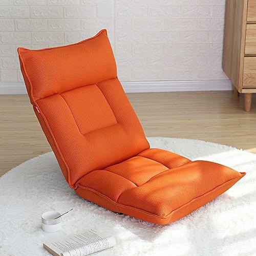 Verstellbarer Faltbarer Fauler Klubsessel-Lesestuhl Fauler Stuhlbodenspiel-Sofastuhl (Farbe : Orange)