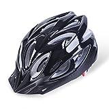 Six Foxes - Casco para bicicleta para adulto unisex, con visera extraíble y forro ajustable, Pure Black