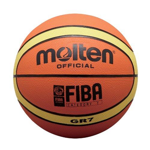 Molten Basketball, Größe 6, Orange/Beige