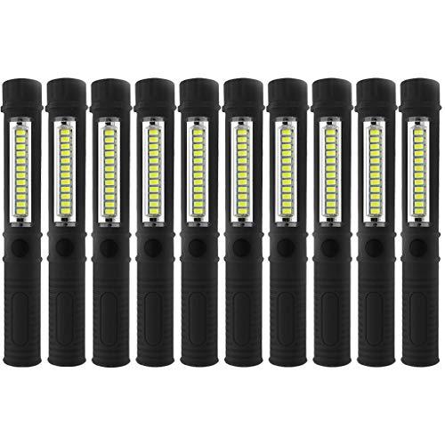 LED Taschenlampe, Tragbare Taschenlampe, Jamicy ® 10 Stück super helle COB LED Taschenstift Licht Inspektion Arbeitslicht Taschenlampe, Für Outdoor-Sport oder Geschenke (Kühlschrank Taschenlampe)