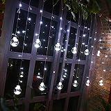 WINBST Vorhang Lichterkette Lichter Warmweiß für Dekoration Drinnen und Draußen LED Diamant Lichtvorhang Fernbedienung Home Dekorations