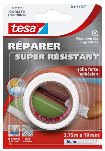 Tesa Réparer Super Résistant Klebeband, stark haftend, Weiß